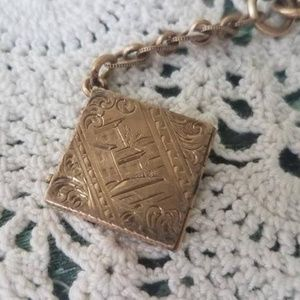 Jewelry - Antique Victorian Ladies Rolled Gold Etched Double